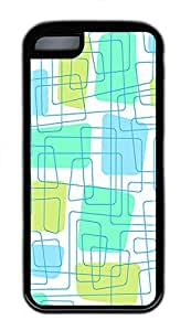 iPhone 5c Cases - Cheap And Beautiful Summer TPU Black Cases Personalized Design Blue Line Square White Background