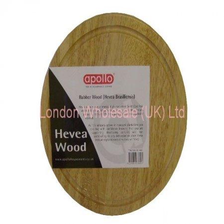 25 Cm Round Hevea Wood Rolling Board