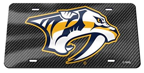 - Nashville Predators Carbon Fiber Design Premium Laser Cut Tag Acrylic Inlaid License Plate Hockey