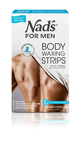 Nad's for Men Hair Removal Strips, 20 Count