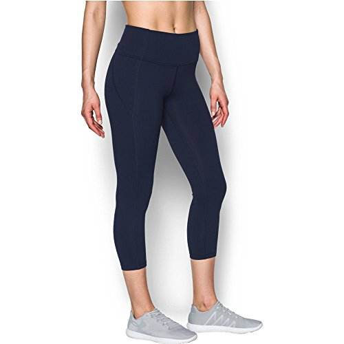 Under Armour Women's Mirror High-Rise Crop Midnight Navy/Black/Tonal Large 22