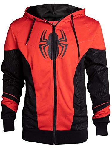 Marvel  Multicolor Spiderman Outfit Zip Hoody (XL, Red) -