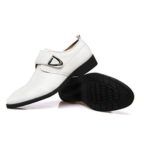 Rainlin Mens Formal Business Oxford Comfort Flat Dress Shoes White bx4a7Har