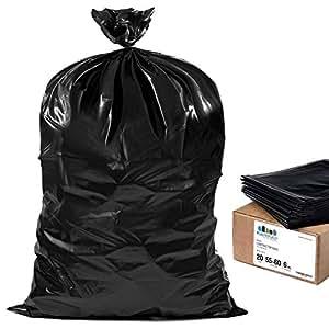 Amazon.com: plasticplace 55 – 60 Galón Contratista bolsas ...