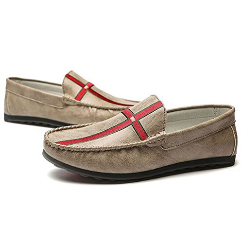 y Cordones Verano para Hombres Zapatos Casuales de Zapatos Primavera sin Microfibra y Caqui de I7xqp70Tw