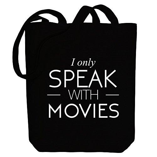 Canvas Movies with Idakoos I Hobbies Bag Tote only speak zqWf6YZ