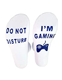 Do Not Disturb I'm Gaming Funny Ankle Socks Great Gamer Gift to Lovers Xbox Players for Birthday or christmas