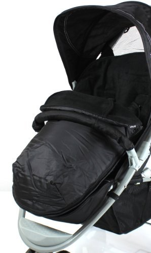 Deluxe Universal Footmuff to fit Quinny Zapp 3 Wheeler - black BABY TRAVEL LTD