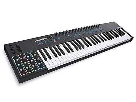 Alesis VI61 | Advanced 61-Key USB MIDI Keyboard & Drum Pad Controller (16 Pads / 16 Knobs / 48 (Alesis Usb Midi)