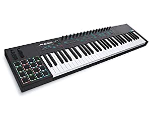 Alesis VI61   Advanced 61-Key USB MIDI Keyboard & Drum Pad Controller (16 Pads / 16 Knobs / 48 Buttons)