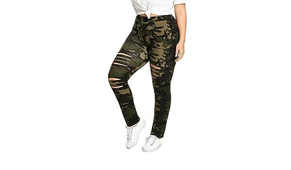 Pantalones Mujer Tallas Grandes, ❤️ Zolimx Pantalón de Camuflaje ...