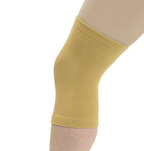 Maxar Cotton/Elastic Knee Brace - Beige -
