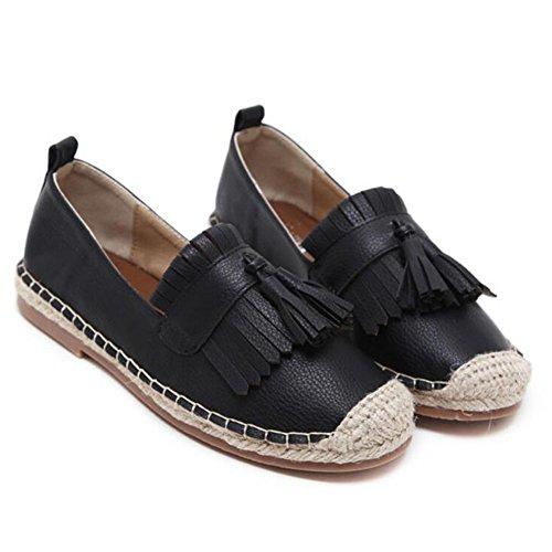 Le libero bianco e Black il confortevoli da GAOLIXIA intrecciano da basse aperta donna all'aria in tessuti nero donna scarpe tempo per Aw7gAxr