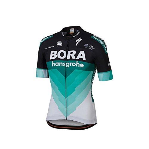 Sportful Bora Bodyfit Team Jersey - Men's Black/BOH Green, L from Sportful