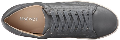 Women's Nine Leather Fashion Rukkus West Sneaker Grey Leather g77q8xwp