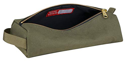 Rough Enough Military Highly Heavy Ballistic Duty Canvas Pencil Case Durable Classic Big Stationery Pen Bag Small Tool Pouch Mufti-Functional Holder Zipper Box For Art Supply Middle School Office