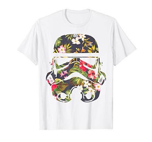 Star Wars Tropical Stormtrooper Floral Print T-Shirt C1