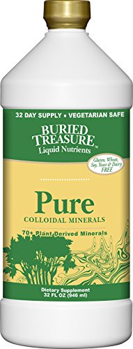 Buried Treasure Pure Colloidal Minerals 70 Plus Plant Derived Minerals from Eden Era Natural Plant Based Nutritional Supplement Liquid Bio-Available for Fast Absorption and Assimilation. 32 oz (Minerals Plant)
