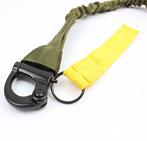 LytHarvest Tactical Internal Bungee Elastic Sling Military Personal  Retention Lanyard with Snap Hook Shackle