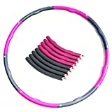 Wowelife Hula Hoop Special Wavy Design 6 or 8 Detachable Snap 28 or 38 Inch in Diameter for Weight-loss ,Body-shaper and Calorie Burning and Waist Massage