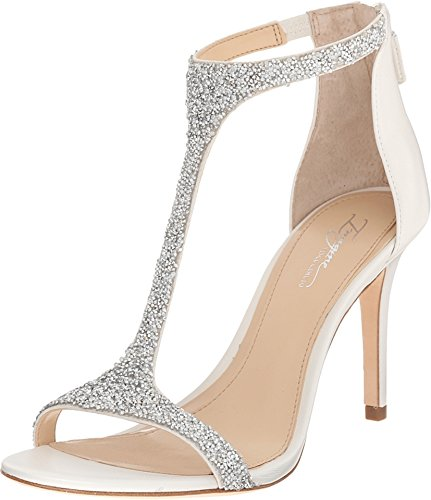 Imagine Vince Camuto Women's Im-Phoebe Dress Sandal, Crystal/Silver, 8 M US