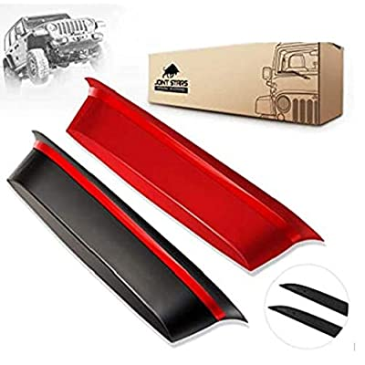 JOINT STARS GrabTray Passenger Storage Tray Organizer Grab Handle Accessory Box for 2011-2020 Jeep Wrangler JK JKU, Interior Accessories, Black/Red: Automotive