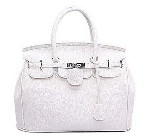 Handbags Women's Party Work AgooLar Clutch GMDBA181554 White Zippers Bucket Pu White wxP0q