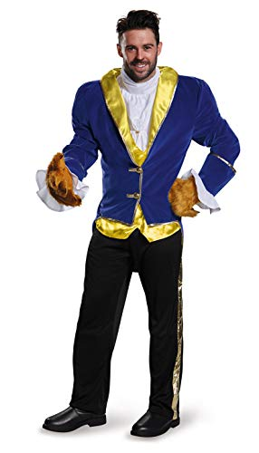 Beast Halloween Costumes (Disguise Men's Plus Size Beauty Beast Prestige Costume, Blue, XXL)