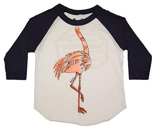 Peek A Zoo Toddler Become an Animal 3/4 Sleeve Raglan - Flamingo Navy - (Flamingo Costume Ideas)