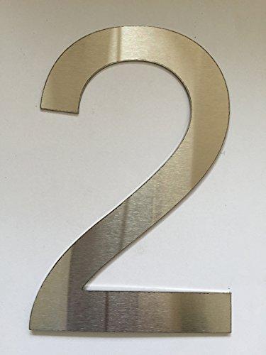 Número Casa / Números y abc numeral cepillado Acero inoxidable (2)