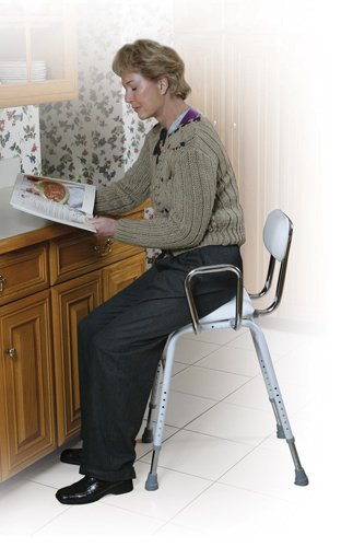 Kitchen (All-Purpose) Stool w/Adjustable Arms from Drive Medical