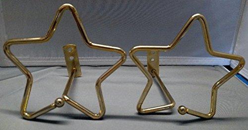 Gold Star Designer Swag Curtain Tieback Holders - Set of 2