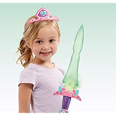 Nella The Princess Knight Exclusive Tiara and Motion Activated Sparkle Sword with 10 Phrases: Toys & Games