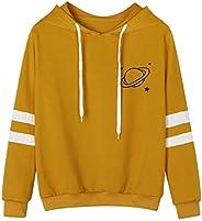 Clearance! Paymenow Women Teen Girls Sweatshirt Fashion Long Sleeve Casual Planet Print Hoodie Pullover Tops