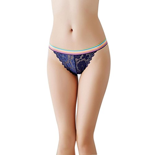 457967517 Smdoxi Thong Panties Women s Fashion Lace Sexy Underwear Hollow-out  Lingerie Panties Briefs Thong (