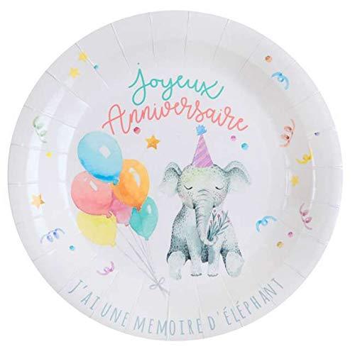 1001decotable Zoo Party - Juego de 10 Platos de cartón para ...