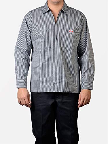 Ben Davis 11237 Men's 1/2 Zipper Long Sleeve Hickory Shirt