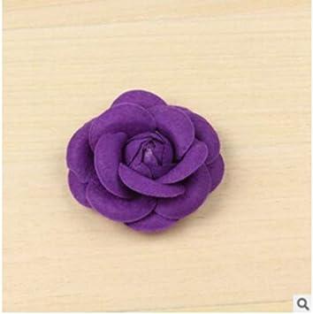 Violet SUNSKYOO Femme Cam/élia Broches Fleur en Tissu Craft Party Accessoires de Corsage