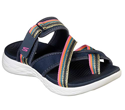 Skechers On The GO 600 Afterglow Womens Thong Sandals Navy/Multi 9