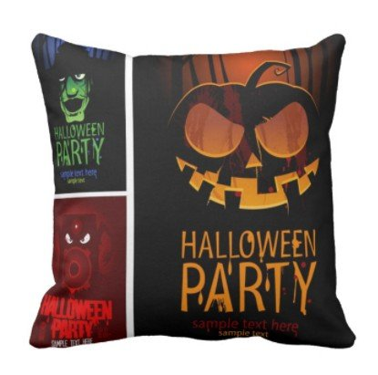 perfecone Home Improvement Pillowcase Halloween Party Sample Text Here Combination | Vintage Costumes of Monsters Hats Design for Sofa and car Pillow case 1 Pack 20x20 -