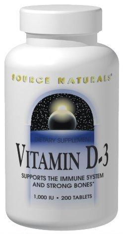 Vitamin D3 2000 IU Source Naturals, Inc. 100 Softgel