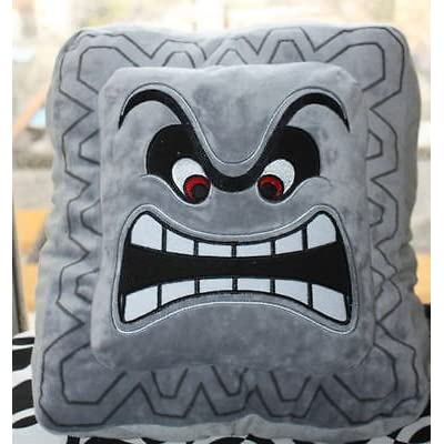 "Super Mario Bros Thwomp Plush Pillow Toy 6X6"": Toys & Games"