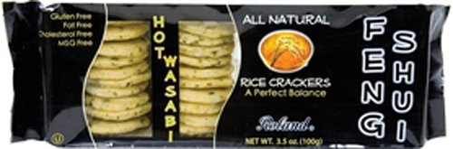 Roland Rice Crackers, Wasabi, 3.5000-Ounce (Pack of 12) by Roland