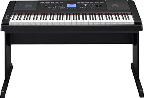 Yamaha DGX660B 88-Key Weighted Digital Piano with Furniture Stand (West Furniture Key Stores In)