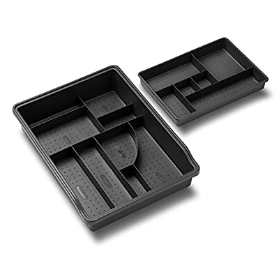 Madesmart Original Junk Drawer Organizer-Granite| Value Collection | 23-Compartments | Multi-Purpose Storage | Heavy Duty | BPA-Free