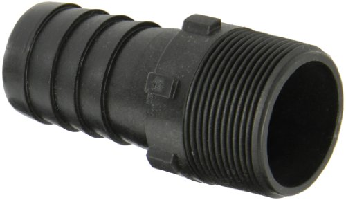Dixon Valve HB150 Polypropylene Shank/Water Fitting, Tuff-Lite King Combination Nipple, 1-1/2