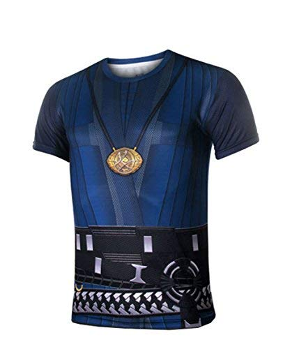 Super Hero Costume Compression T-Shirt Tight Cycling Clothes Sport T-Shirt (L, -