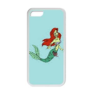 iPhone Protector Disney Cartoon Zombie The Little Mermaid pattern ipod touch 4 touch 4 TPU (Laser Technology) Fitted Case Covers - Rubber Sides