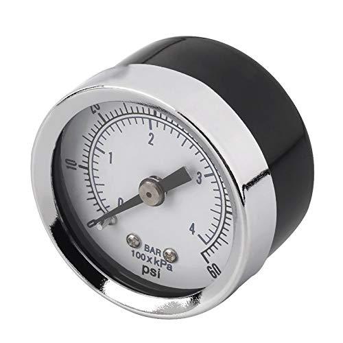 Bianchi 1//8 NPT Air Compressor Hydraulic Pressure Gauge 0-60 PSI Back Mount
