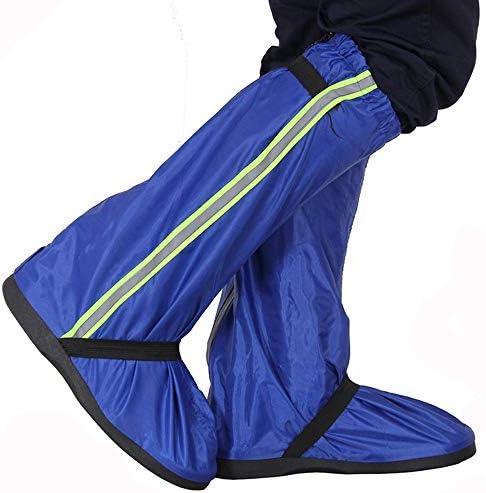 自転車靴カバー ハイキングブーツ砂漠の砂の足厚い雪スリップ乗っオックスフォード生地のスーツの成人男性と女性 防水レインブーツ (Color : Blue, Size : L)